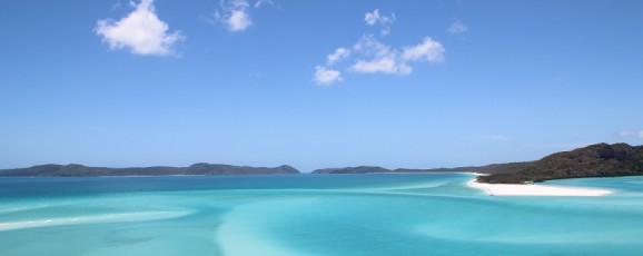 Les Whitsundays vue de la mer !